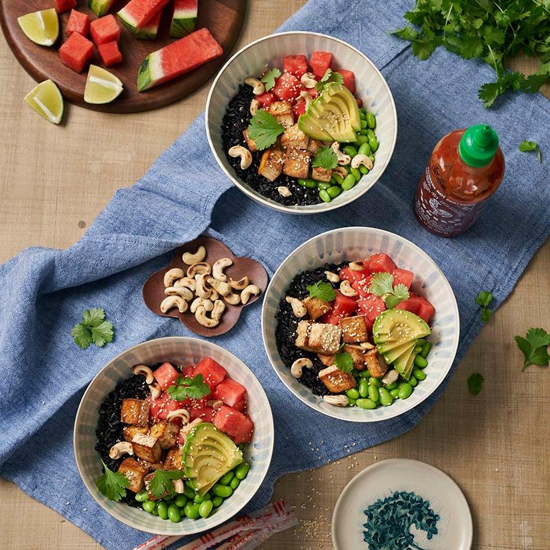 Foto av Vegetarisk poké bowl med tofu och vattenmelon från WW ViktVäktarna