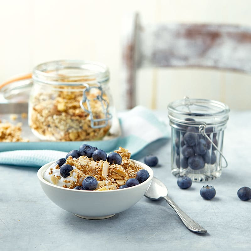 Foto av Äppelgranola med yoghurt och blåbär från WW ViktVäktarna