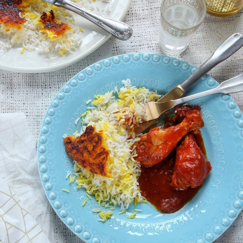 Foto av Kycklinglår med tomatsås och persiskt saffransris från WW ViktVäktarna
