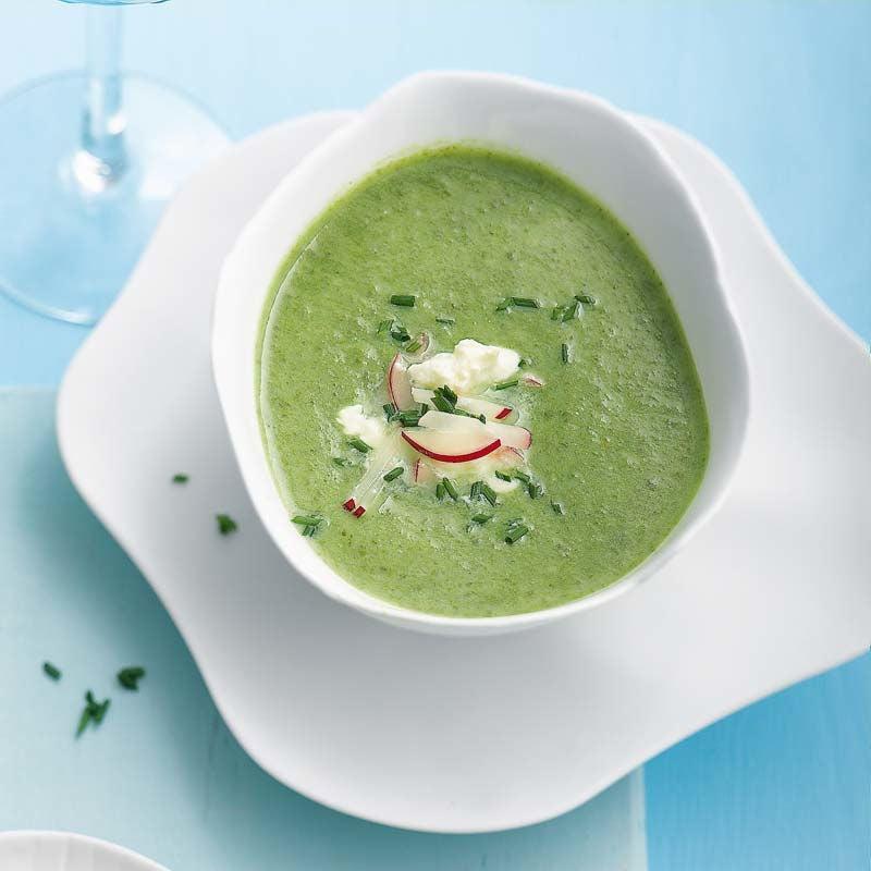 Foto av Vårgrön soppa med limetopping från WW ViktVäktarna