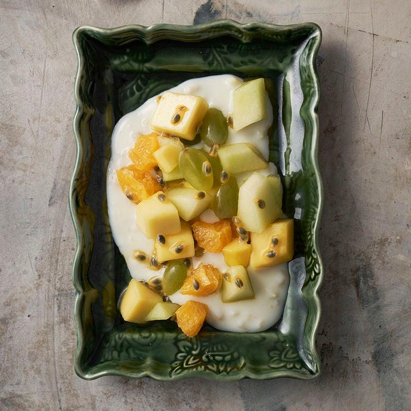 Foto av Färsk frukt med ingefärskräm från WW ViktVäktarna