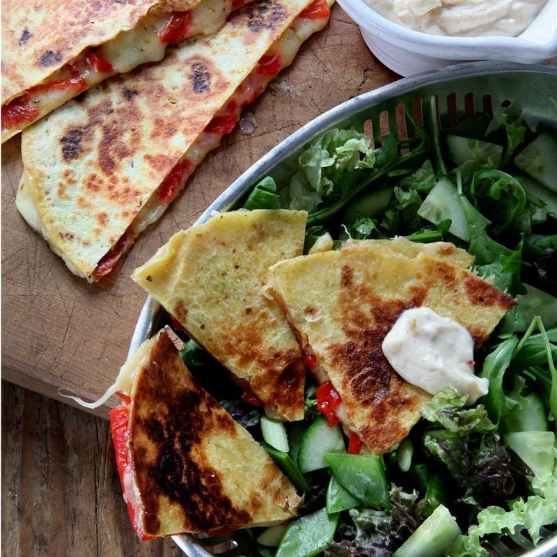 Foto av Quesadillas med två ostar och chutneydressing från WW ViktVäktarna