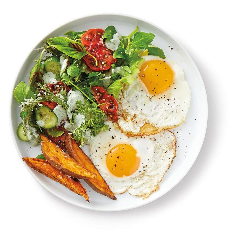 Foto av Stekt ägg med rostad sötpotatis från WW ViktVäktarna