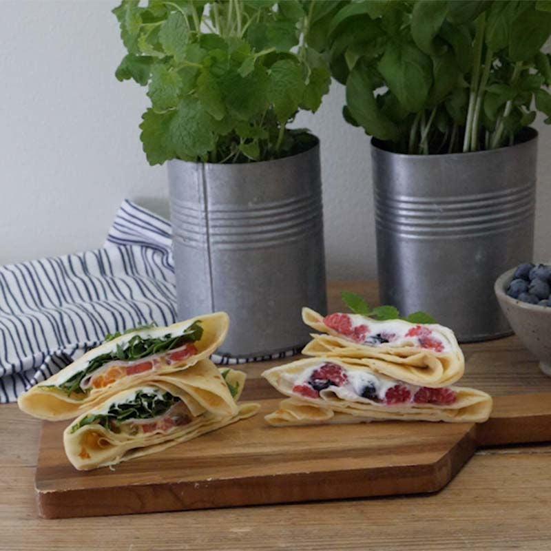 Foto av Fyllda pannkakor med kalkon och färskost från WW ViktVäktarna