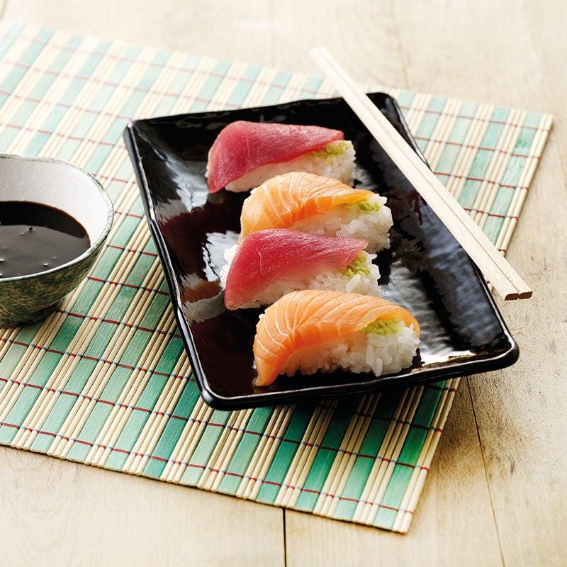 Foto av Sushi lax- och tonfisksnigiri från WW ViktVäktarna