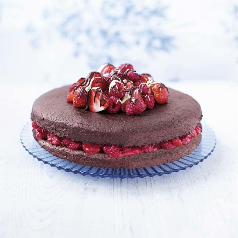 Foto av Chokladtårta med bär från WW ViktVäktarna