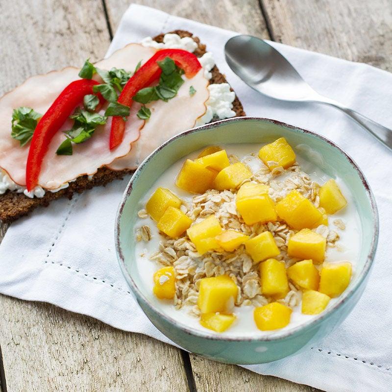 Foto av Rågmacka och yoghurt med mango från WW ViktVäktarna