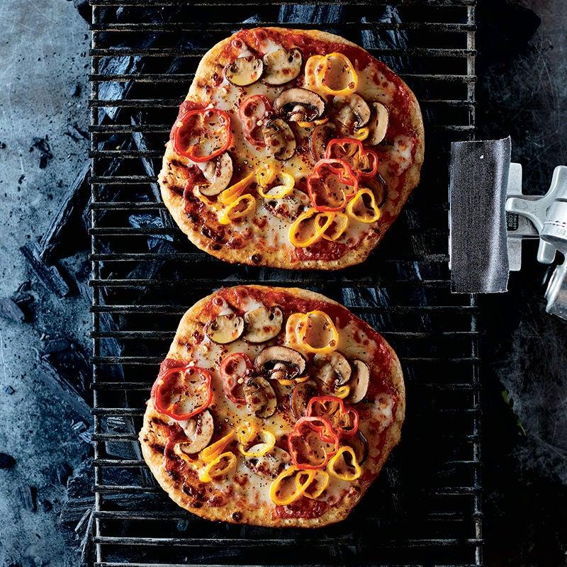 Foto av Grillad pizza med svamp och paprika från WW ViktVäktarna