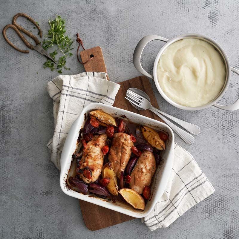 Foto av Ugnsbakad kycklingfilé med jordärtskockspuré från WW ViktVäktarna