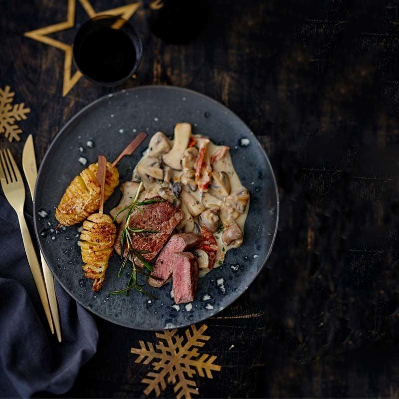 Foto av Ryggbiff med skruvad potatis och svampsås från WW ViktVäktarna