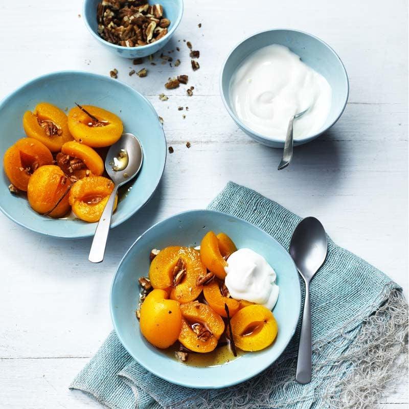 Foto av Sirapspocherade aprikoser med glaserade pekannötter från WW ViktVäktarna