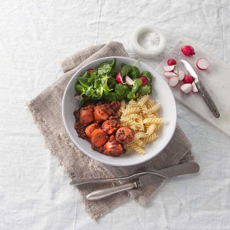 Foto av Korv- och linsgryta med pasta från WW ViktVäktarna