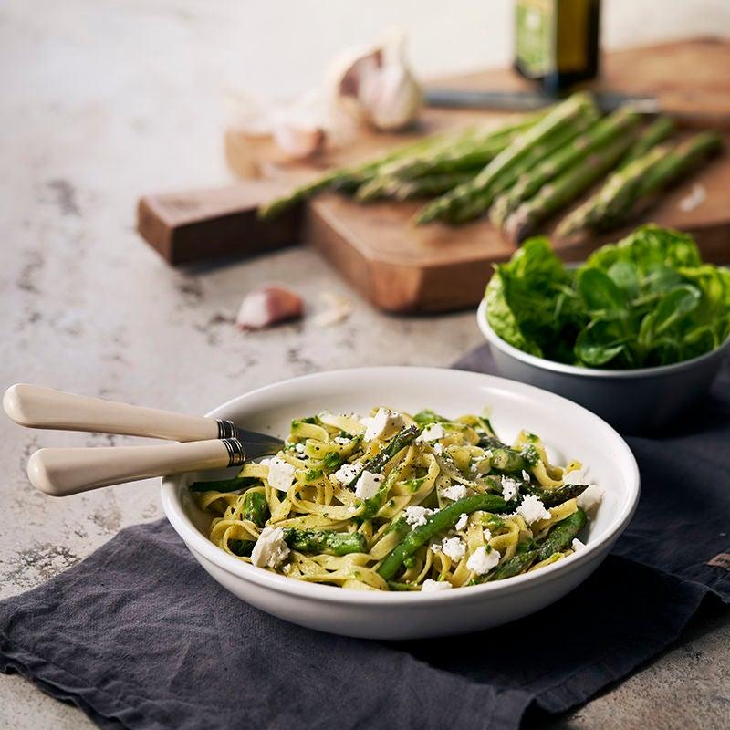 Foto av Grön pasta med salladsost från WW ViktVäktarna