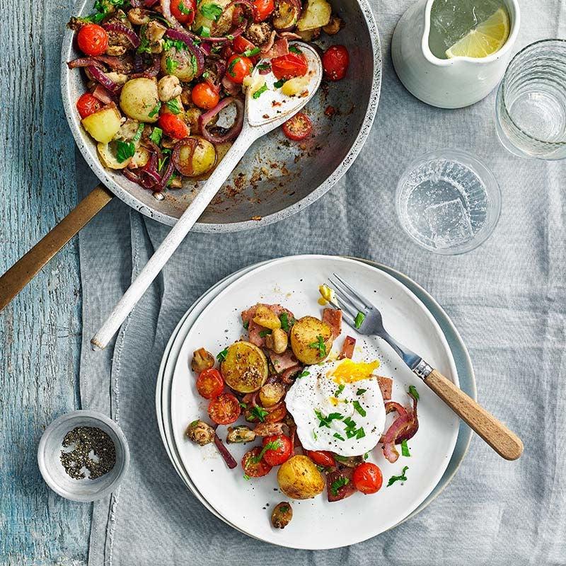 Foto av Potatis- och baconpytt med pocherat ägg från WW ViktVäktarna
