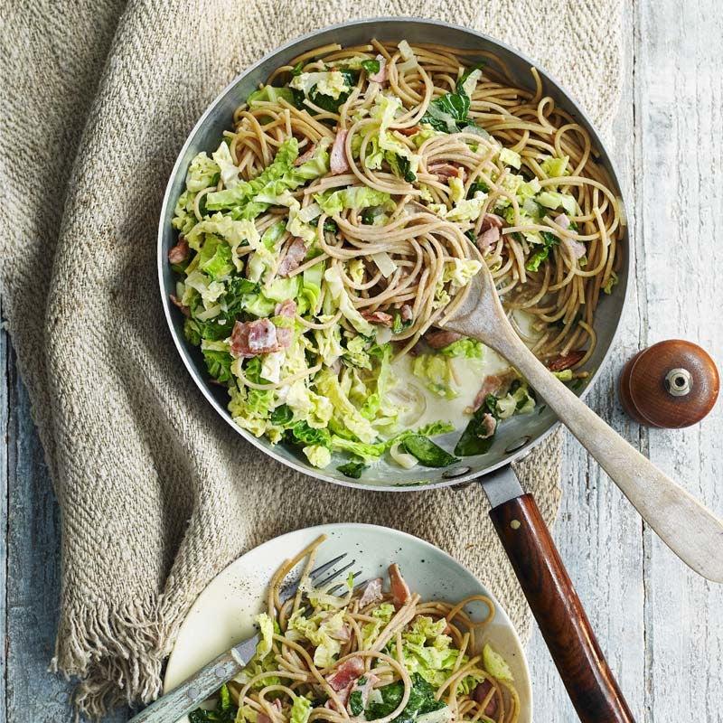 Foto av Spaghetti med kalkonbacon och savoykål från WW ViktVäktarna