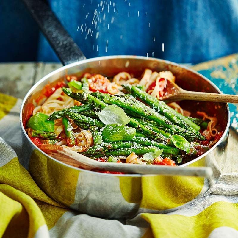 Foto av Pasta med tomatsås och sparris från WW ViktVäktarna