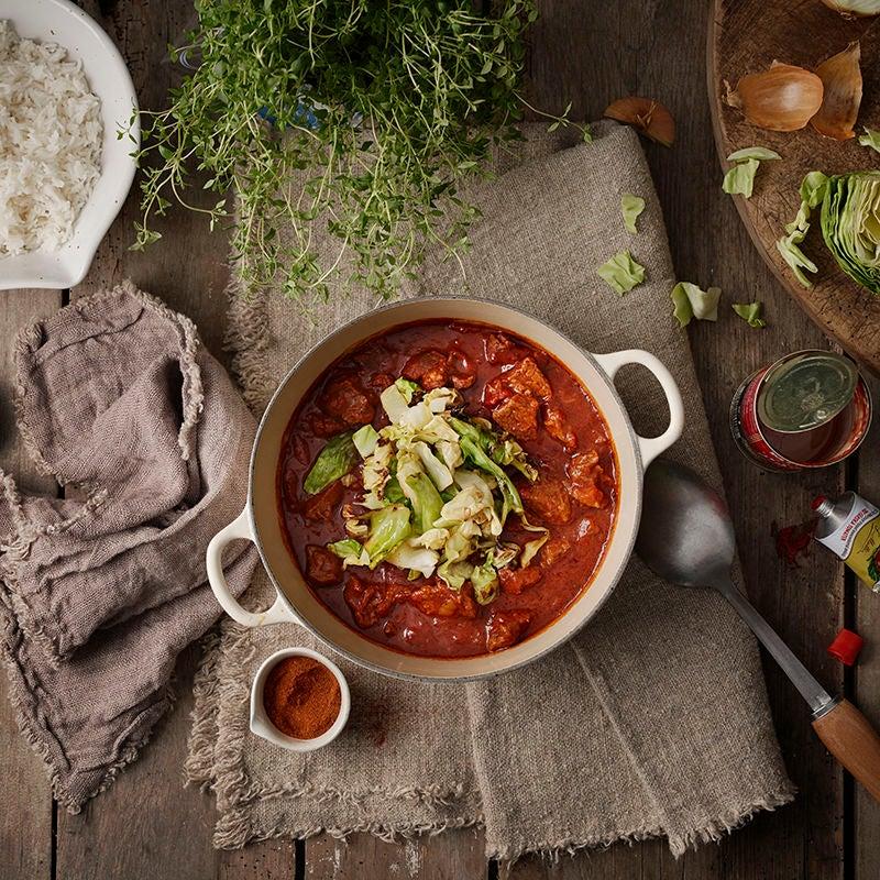 Foto av Köttgryta med vitkål och ris från WW ViktVäktarna