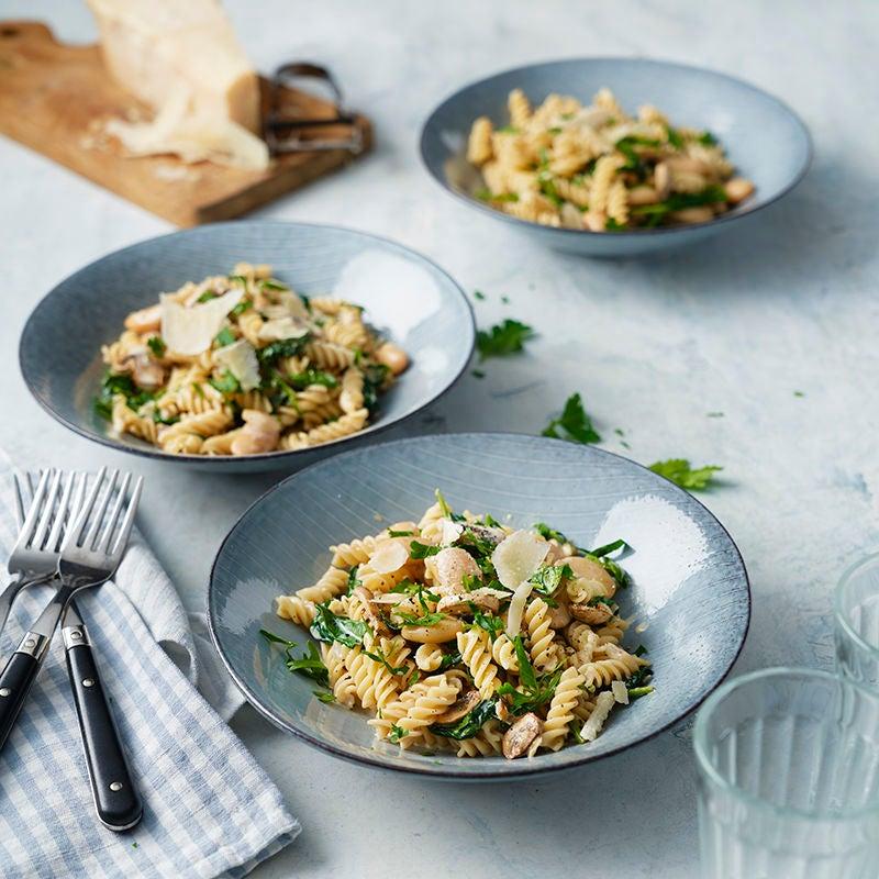Foto av Pasta med svamp, bondbönor och parmesan från WW ViktVäktarna