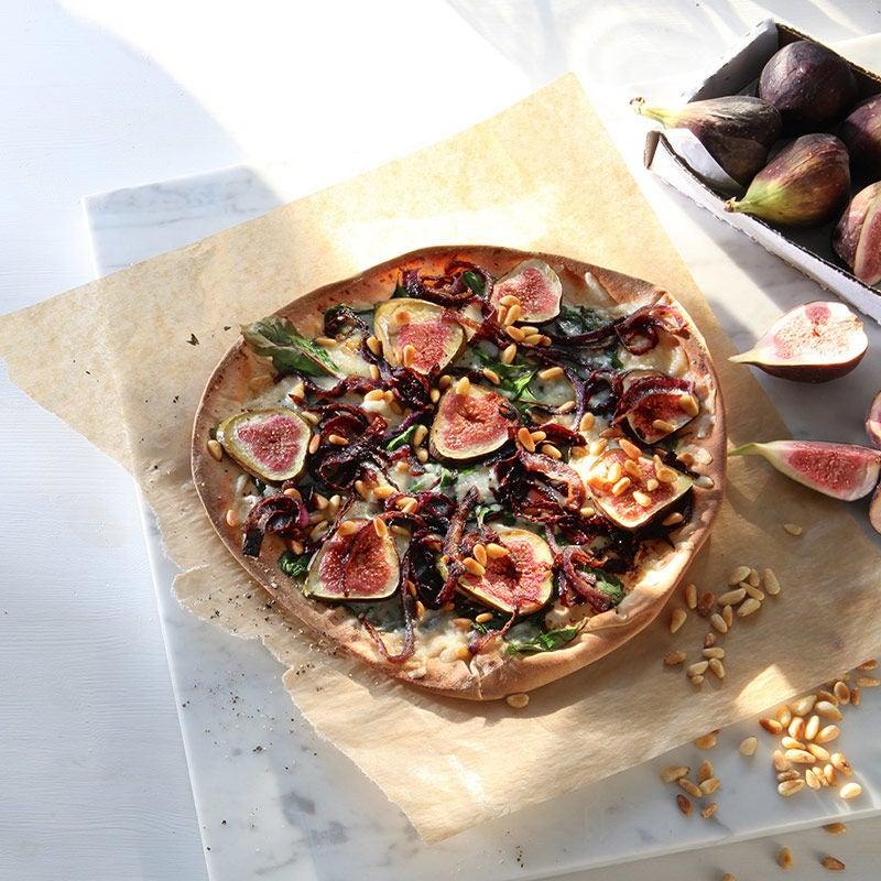 Foto av Libapizza  med karamelliserad rödlök och fikon från WW ViktVäktarna