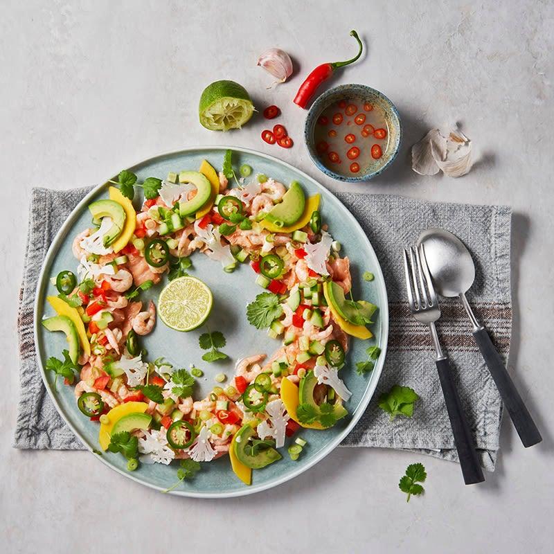 Foto av Ceviche med lax och räkor från WW ViktVäktarna