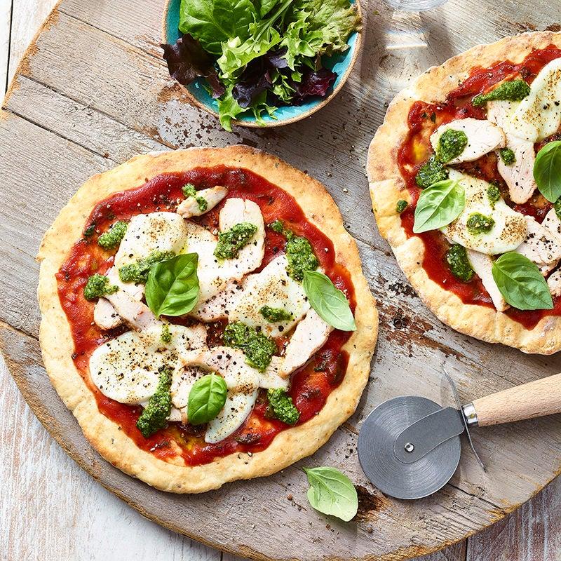 Foto av Snabbjäst kyckling- och pestopizza från WW ViktVäktarna