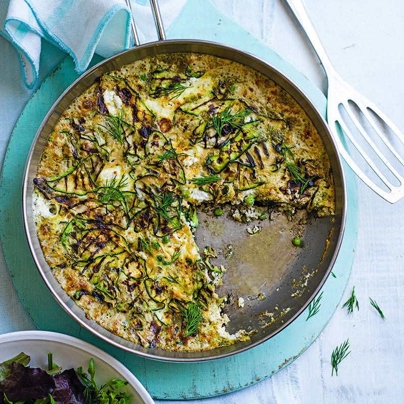 Foto av Frittata med zucchini, ärter och pesto från WW ViktVäktarna