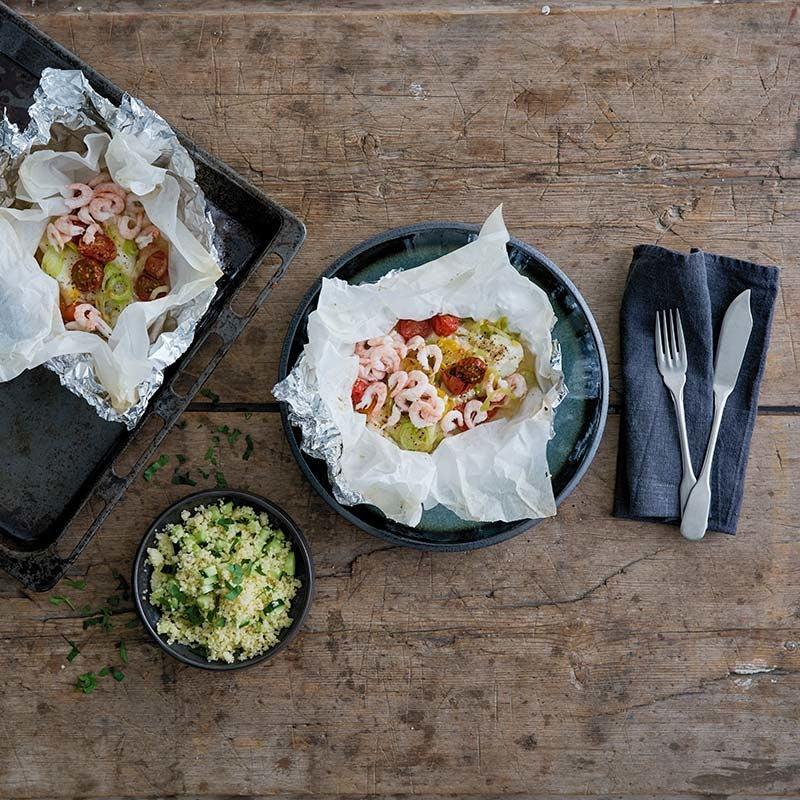 Foto av Torsk- och räkpaket med couscous från WW ViktVäktarna