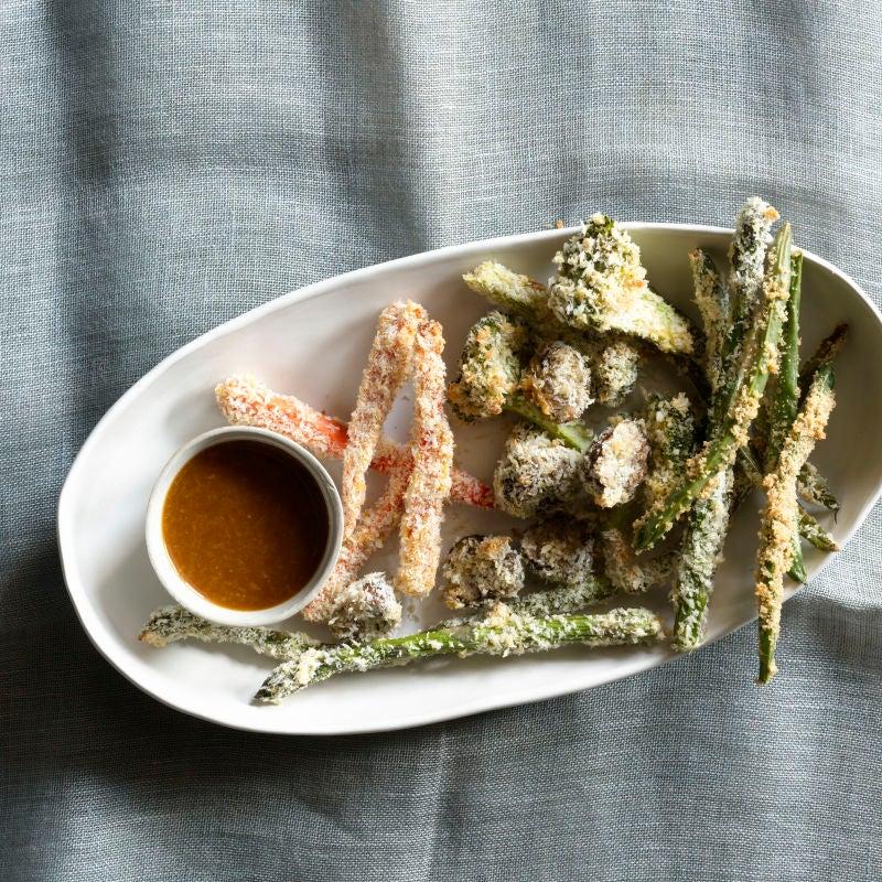 Foto av Pankopanerade grönsaker med wasabidippa från WW ViktVäktarna