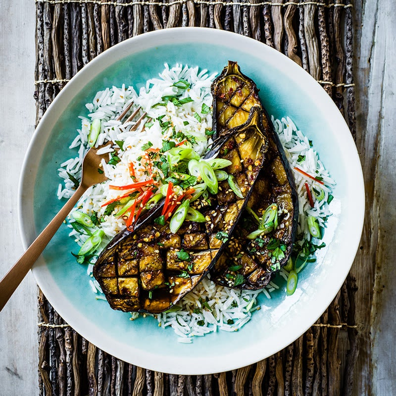 Foto av Glaserad aubergine med ris från WW ViktVäktarna
