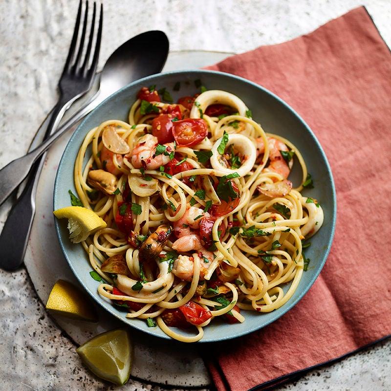 Foto av Spaghetti med skaldjur från WW ViktVäktarna