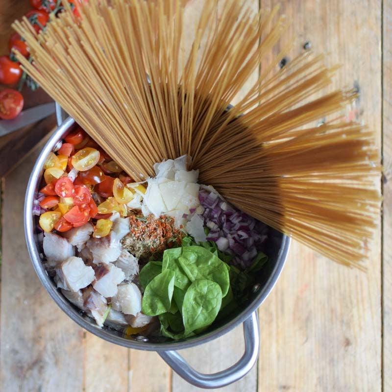 Foto av One-pot-pasta med torsk och spenat från WW ViktVäktarna